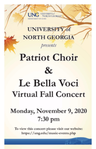 Le Belle and Patriot Choir fall Concert