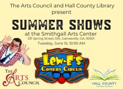 Lew-E's Comedy Circus flyer